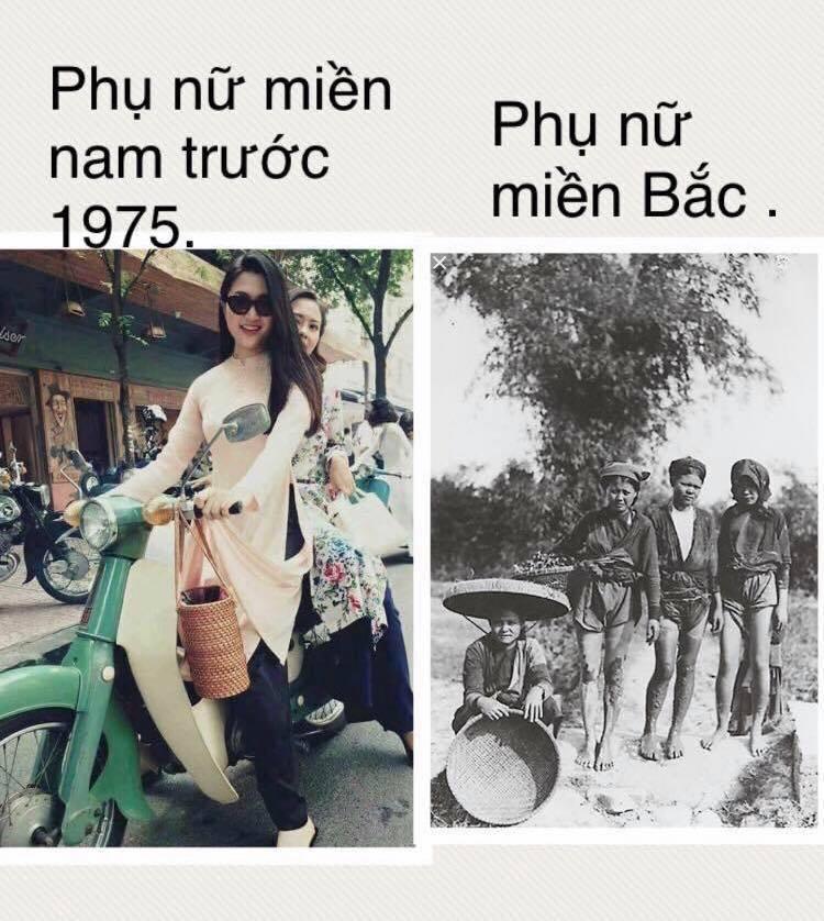 Một fanpage so sánh phụ nữ miền nam với với phụ nữ miền bắc qua hình ảnh của Lam Giang