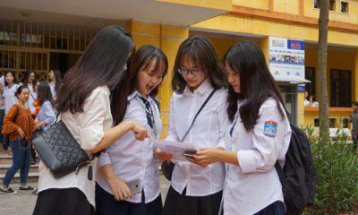 Thí sinh tham dự kỳ thi THPT quốc gia năm 2018 tại Hà Nội. Ảnh: Việt Phương
