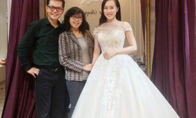 NSND Trung Hiếu cùng vợ đi thử váy cưới vào tối qua (7/1).