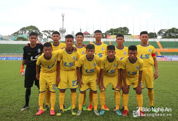 Đội hình U15 SLNA năm 2018. Ảnh: Báo Nghệ An.
