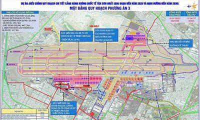 Phương án điều chỉnh quy hoạch sân bay Tân Sơn Nhất.