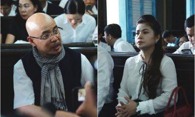 Ông Vũ, bà Thảo tại phiên tòa xét xử ly hôn chiều 27/3.