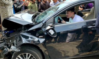 Nam thanh niên Việt kiều Mỹ bị ngáo đá lái xe gây tai nạn. Ảnh: Hoàng Phụng.