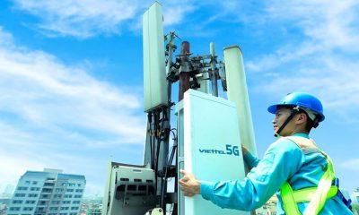 Hình ảnh trạm 5G đầu tiên tại Hà Nội.