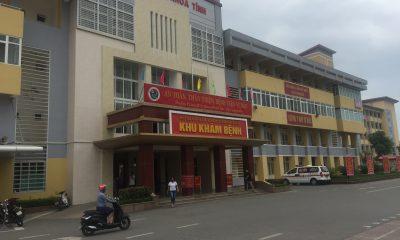 Bệnh viện đa khoa tỉnh Hà Tĩnh, nơi xảy ra sự việc. Ảnh PV