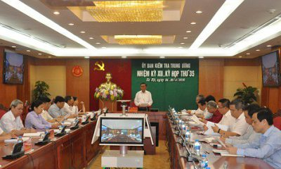 Kỳ họp thứ 35 của Ủy ban Kiểm tra Trung ương - Ảnh: Website UBKTTW
