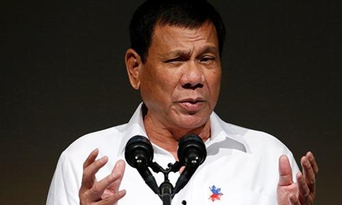 Tổng thống Philippines Rodrigo Duterte tại một diễn đàn ở Nhật năm 2016. Ảnh: Reuters