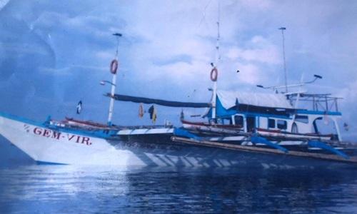 Ảnh tư liệu của FB Gimvir 1, tàu cá Philippines bị đâm chìm đêm 9/6 trên Biển Đông. Ảnh: ABS-CBN.