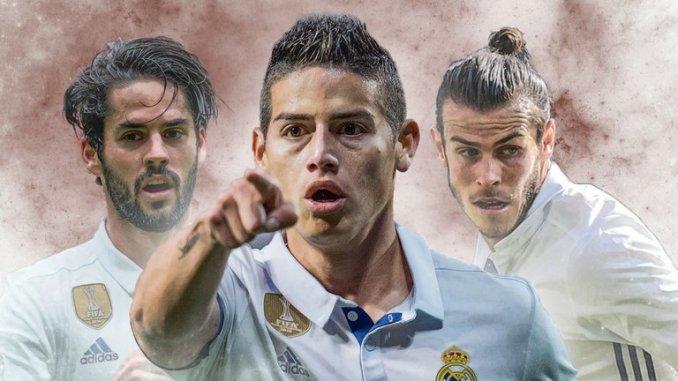 Real Madrid định bán cả Isco, James và Bale