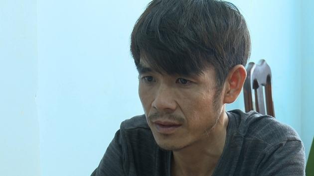 Tài xế Trương Hoàng Giang tại cơ quan Công an.