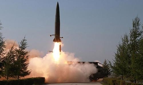 Triều Tiên phóng tên lửa ngày 9/5. Ảnh: KCNA.