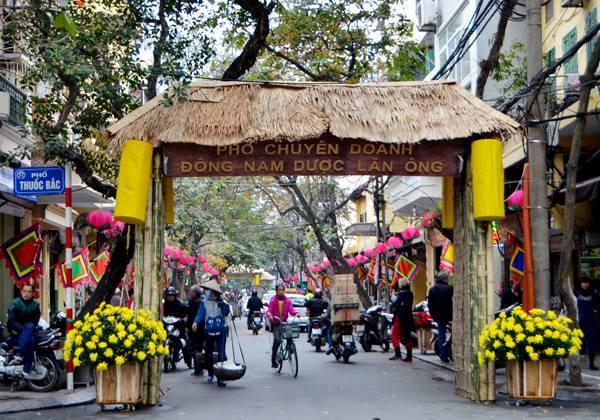 Đây nguyên là đất thôn Đức Môn, tổng Đông Thọ, huyện Thọ Xương cũ.