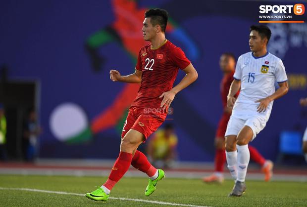 Tiến Linh chơi rất tốt trong trận gặp U22 Lào. Ảnh: Sport5.