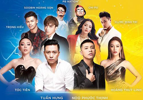 Noo Phước Thịnh, Hoàng Thùy Linh, Tóc Tiên, Chi Pu... trình diễn trong đêm nhạc ở Hà Nội.
