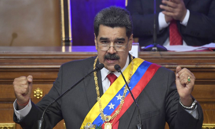 Maduro phát biểu trước Hội đồng Hiến pháp Venezuela hôm 14/1. Ảnh: AFP.