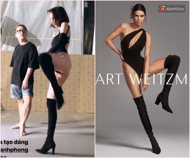 Ngọc Trinh dày công chụp ảnh nóng mừng Valentine, tiếc thay lại bị bóc mẽ là hàng nhái của Kendall Jenner - Ảnh 3.