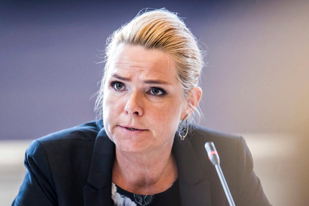 Inger Støjberg - một trong hai người bảo trợ cho dự luật mới. Ảnh: Ritzau Scanpix.