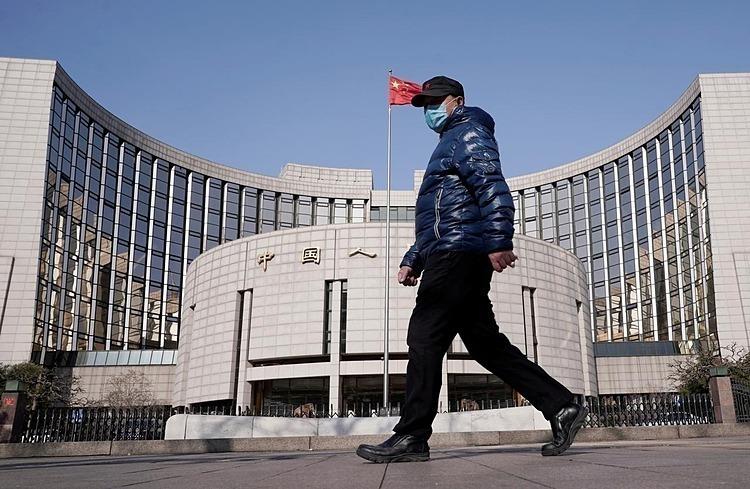 Bên ngoài trụ sở PBOC tại Bắc Kinh (Trung Quốc). Ảnh:Reuters