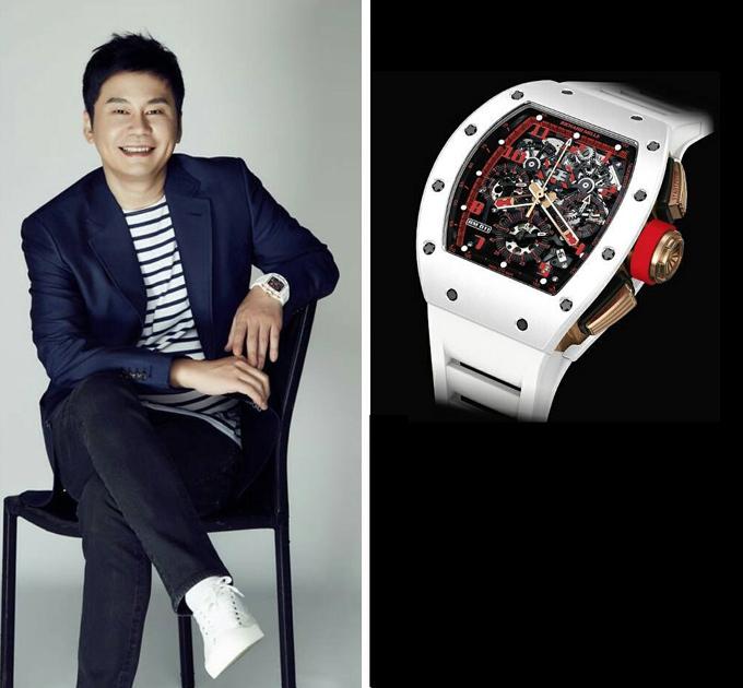 Yang Hyun Suk - cựu chủ tịch kiêm người sáng lập công ty giải trí YG Entertainment - không hề kém cạnh các thần tượng nhà mình khi sở hữu bộ sưu tập đồng hồ đáng mơ ước, từ chiếc RM 011 White Demon gần 4 tỷ đồng tới RM 038 Tourbillon Bubba Watson.