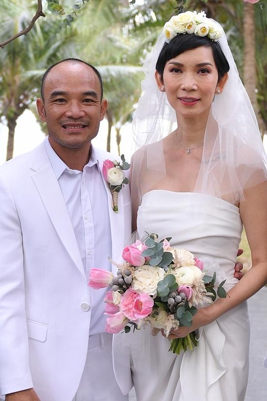 Xuân Lan bên ông xã Ngọc Lâm tổ chức đám cưới ở Đà Nẵng, đầu năm 2020.