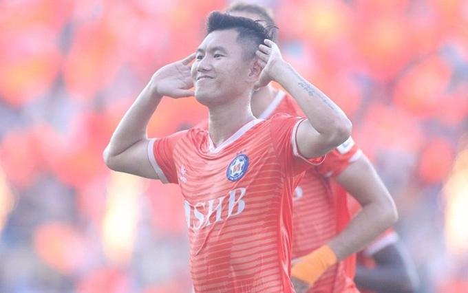 Văn Long duy trì phong độ ấn tượng khi ghi bàn thứ tư cho Đà Nẵng mùa này. Ảnh: Phi Hải.