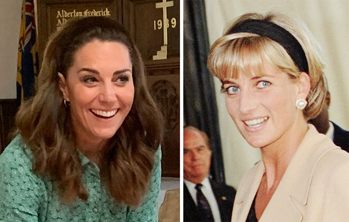 But it was Diana who first debuted the look, seen wearing one in 1997