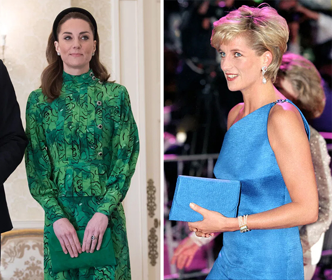 If there is one thing that Diana perfected when it comes to style it was her ability to coordinate.  The late royal was a stickler for matching accessories, and religiously matched her clutch to her outfit