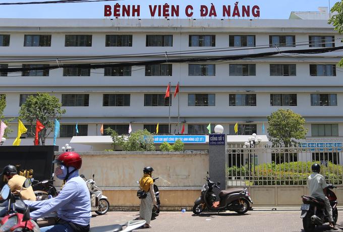 Bệnh viện C Đà Nẵng, nơi phát hiện ca bệnh và được cách lý từ ngày 24/7. Ảnh: Đắc Thành.