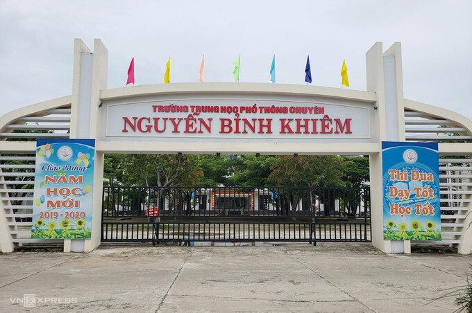 THPT chuyên Nguyễn Bỉnh Khiêm, một trong 52 điểm thi tốt nghiệp THPT của Quảng Nam. Ảnh: Đắc Thành.