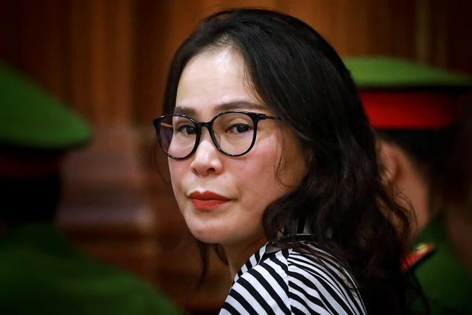 Bị cáo Lê Thị Thanh Thuý tại phiên toà sơ thẩm hôm 19/9. Ảnh: Hữu Khoa.