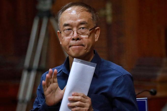 Ông Nguyễn Thành Tài tại tòa chiều 16/9. Ảnh: Hữu Khoa.