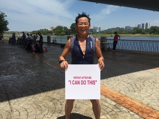 Giáo sư Dương Nguyên Vũ dành thời gian tập thể thao để có sức khỏe tốt. Ảnh: VinUni.