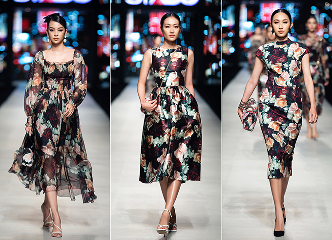 Vải in độc quyền được thiết kế riêng để tạo nên nhiều mẫu váy nhiều style, đáp ứng nhu cầu mặc đẹp ở mọi nơi của hội chị em mê chưng diện.