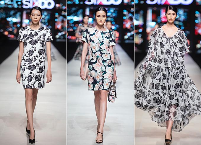 Đầm suông, váy không ké dáng, đầm xoè cổ điển, đầm maix được nhà mốt Việt làm mới với cách sử dụng hoạ tiết hợp mùa.