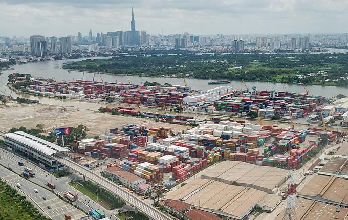 Cảng Trường Thọ, quận Thủ Đức, TP HCM vào tháng 9/2020. Ảnh: Quỳnh Trần.