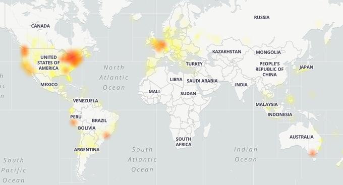 Khu vực bị ảnh hưởng nhiều nhất là Bắc Mỹ.