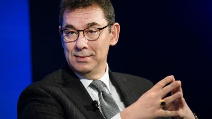 Albert Bourla - CEO hãng dược phẩm Pfizer. Ảnh: AP