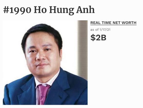 Chỉ hai tuần đầu năm, tài sản các tỉ phú đôla Việt Nam tăng vọt ra sao? - Ảnh 4.