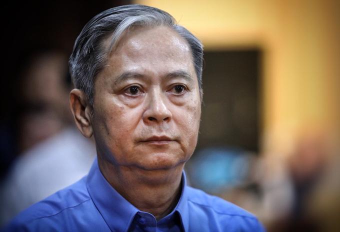 Ông Nguyễn Hữu Tín trong một phiên xử ở TP HCM. Ảnh: Hữu Khoa.