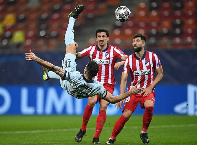 Ở lần dứt điểm thứ hai trong trận, Giroud ghi bàn duy nhất cho Chelsea. Ảnh: CFC.