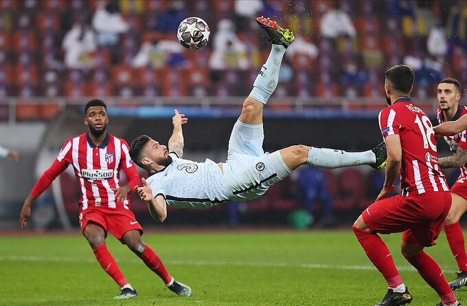 Giroud là chân sút số một của Chelsea tại Champions League mùa này, với 6 bàn. Ảnh: Reuters.
