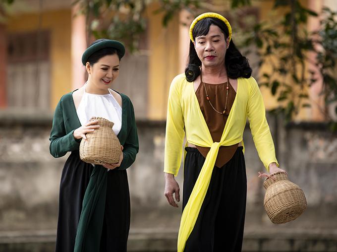 Đinh Hiền Anh và NSND Công Lý đóng vai Tấm, Cám trong MV Cám ca.