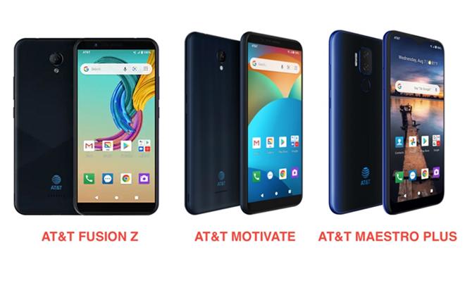 Ba mẫu điện thoại mới của AT&T.