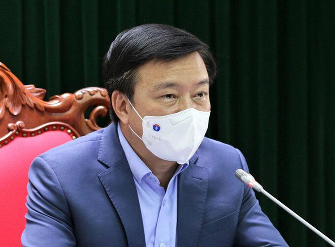 Ông Phạm Xuân Thăng, Bí thư Tỉnh ủy Hải Dương chủ trì cuộc họp sáng 22/2. Ảnh: CTV