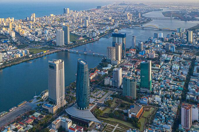 Khu vực đô thị Thành Điện Hải (cạnh Trung tâm hành chính Đà Nẵng, toà nhà hình tròn), sẽ là Quảng trường trung tâm của Đà Nẵng trong tương lai. Ảnh: Kim Liên.