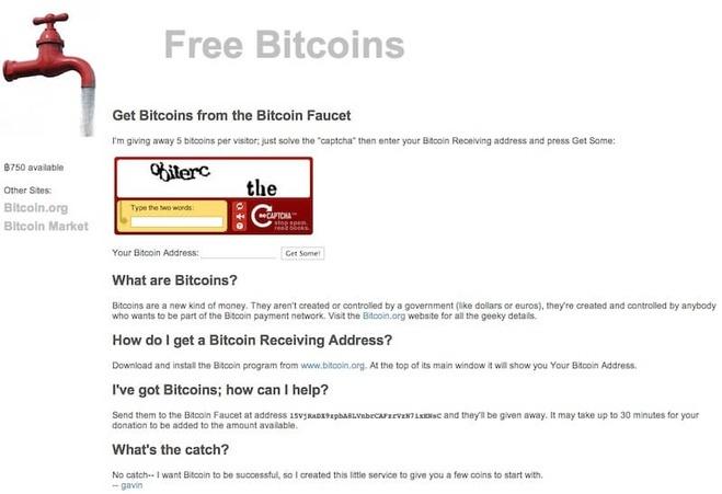 Giao diện chính của website freebitcoins.appspot.com.